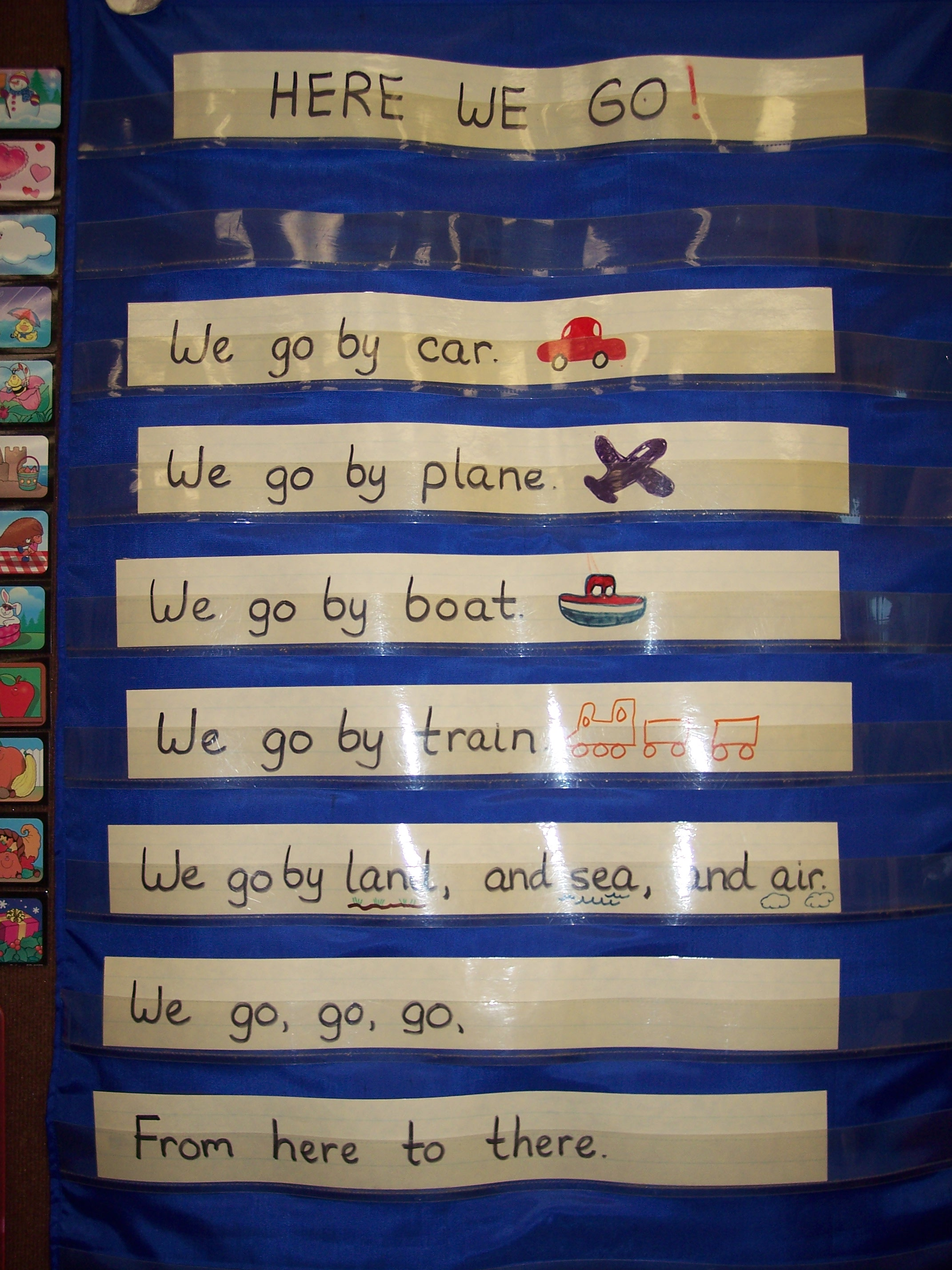 Kindergarten Calendar Pocket Chart : Transportation kindergarten nana