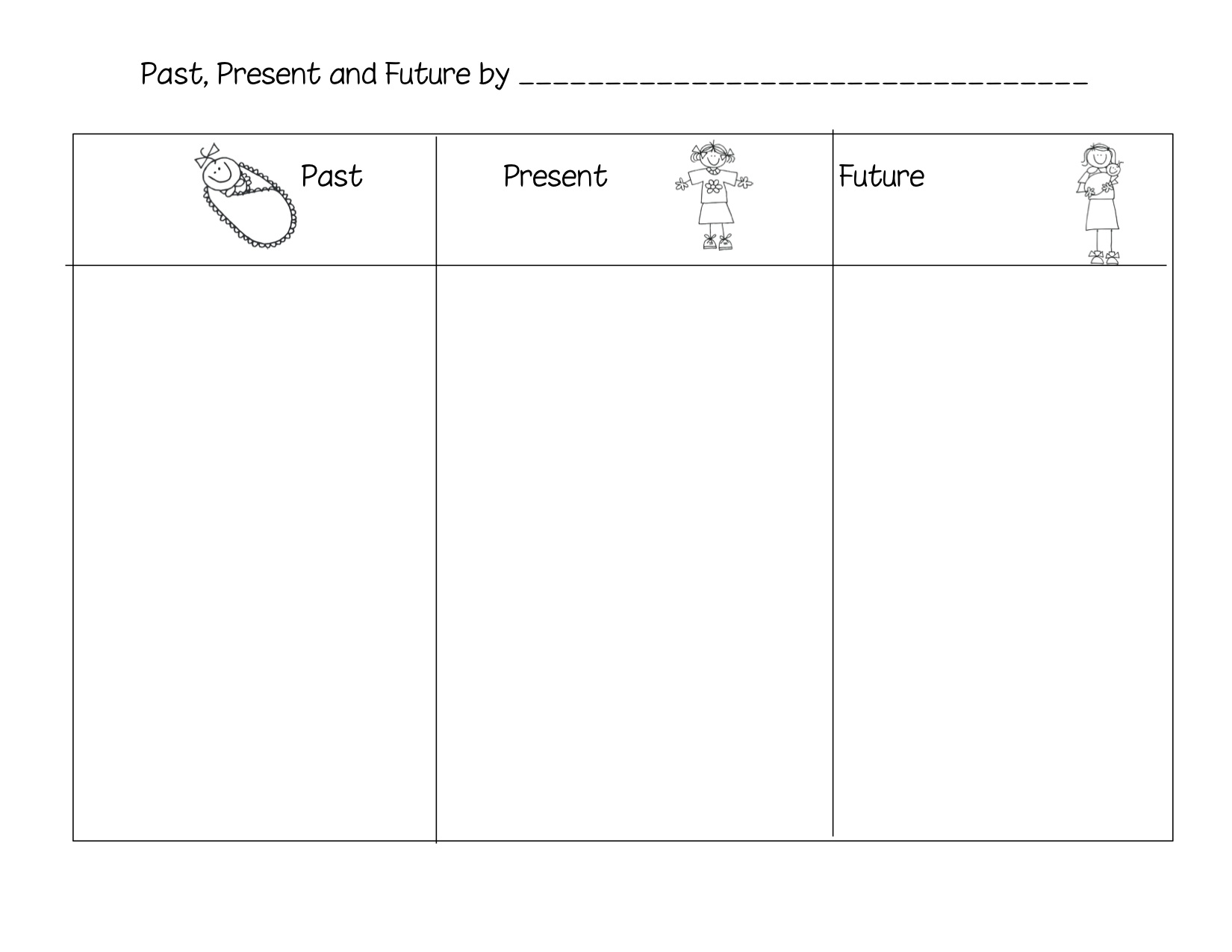 Uncategorized Past Present Future Worksheets past present and future kindergarten nana print