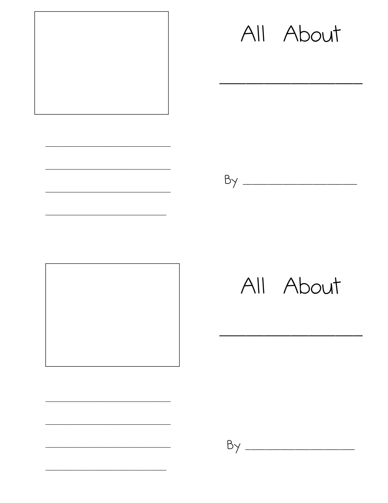 Here is the template I used for these small books, there are 2 on a ...