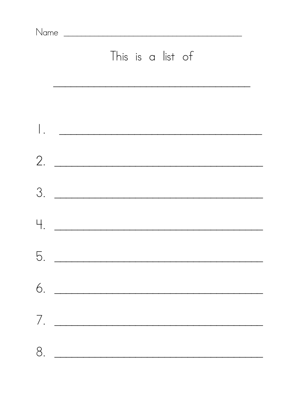 kindergarten writing paper template