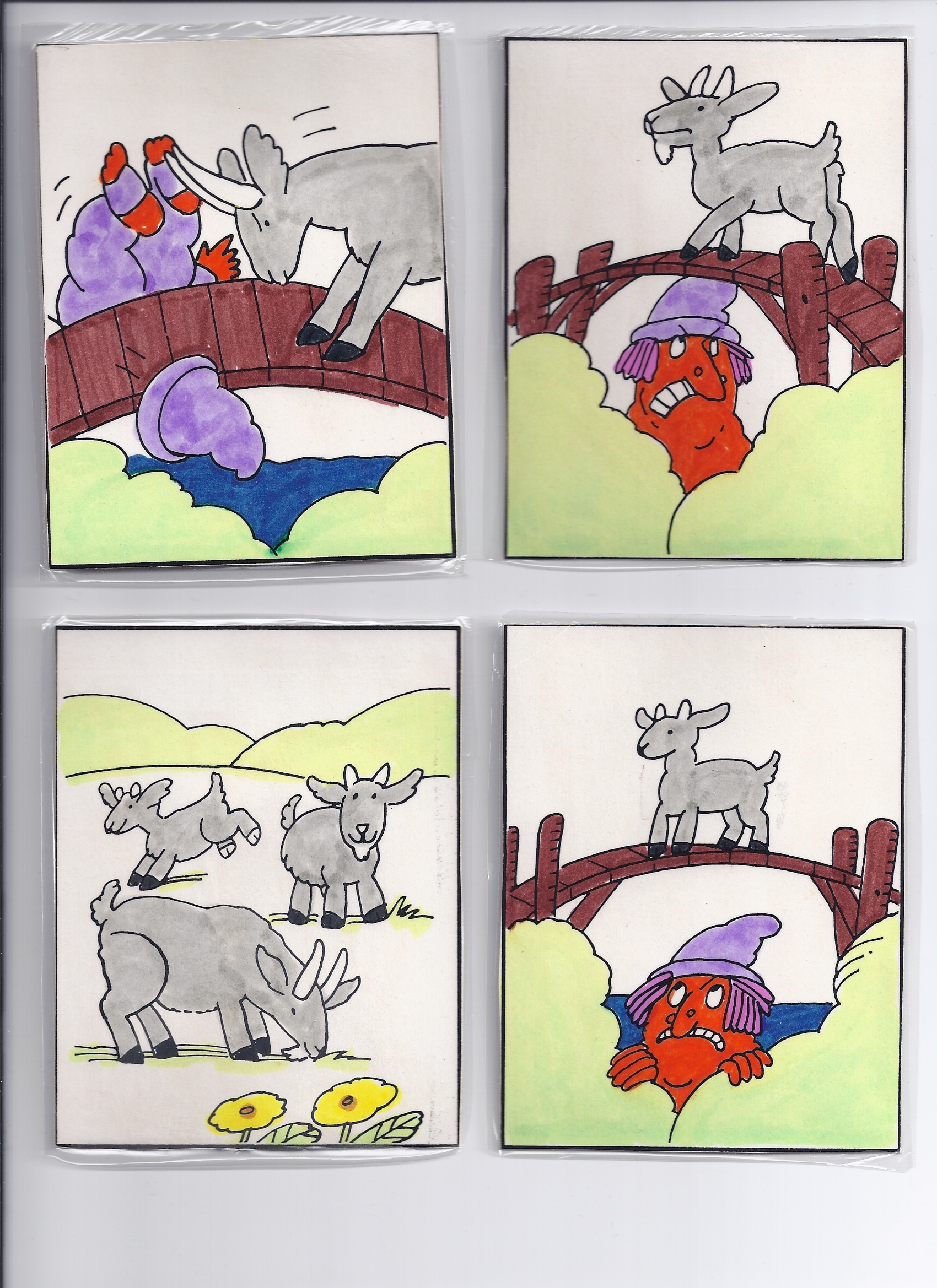 Three Billy Goats Gruff – Picture Story Sequencing Worksheets Kindergarten