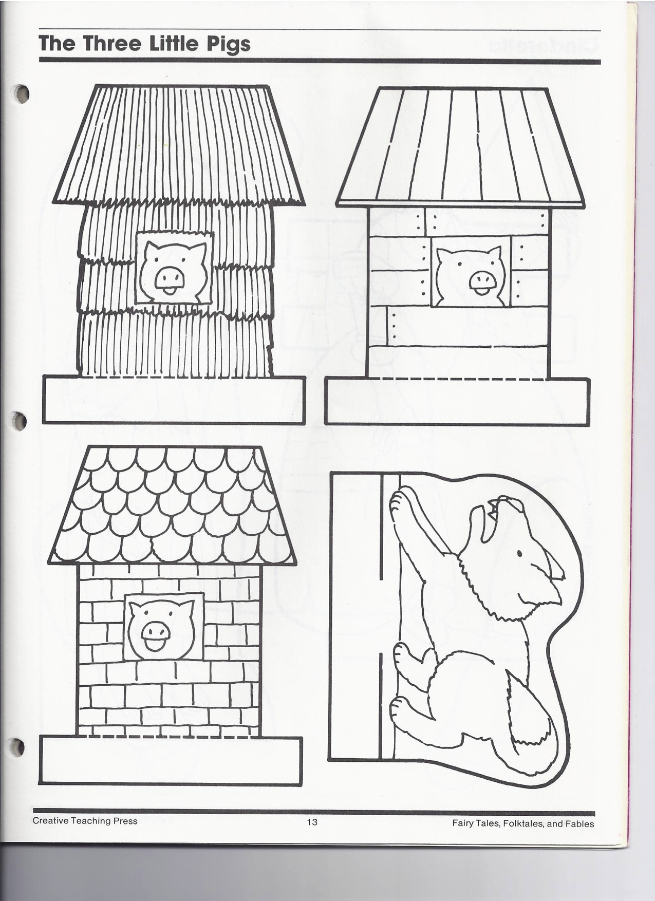 the three little pigs puppet templates the three little pigs kindergarten nana