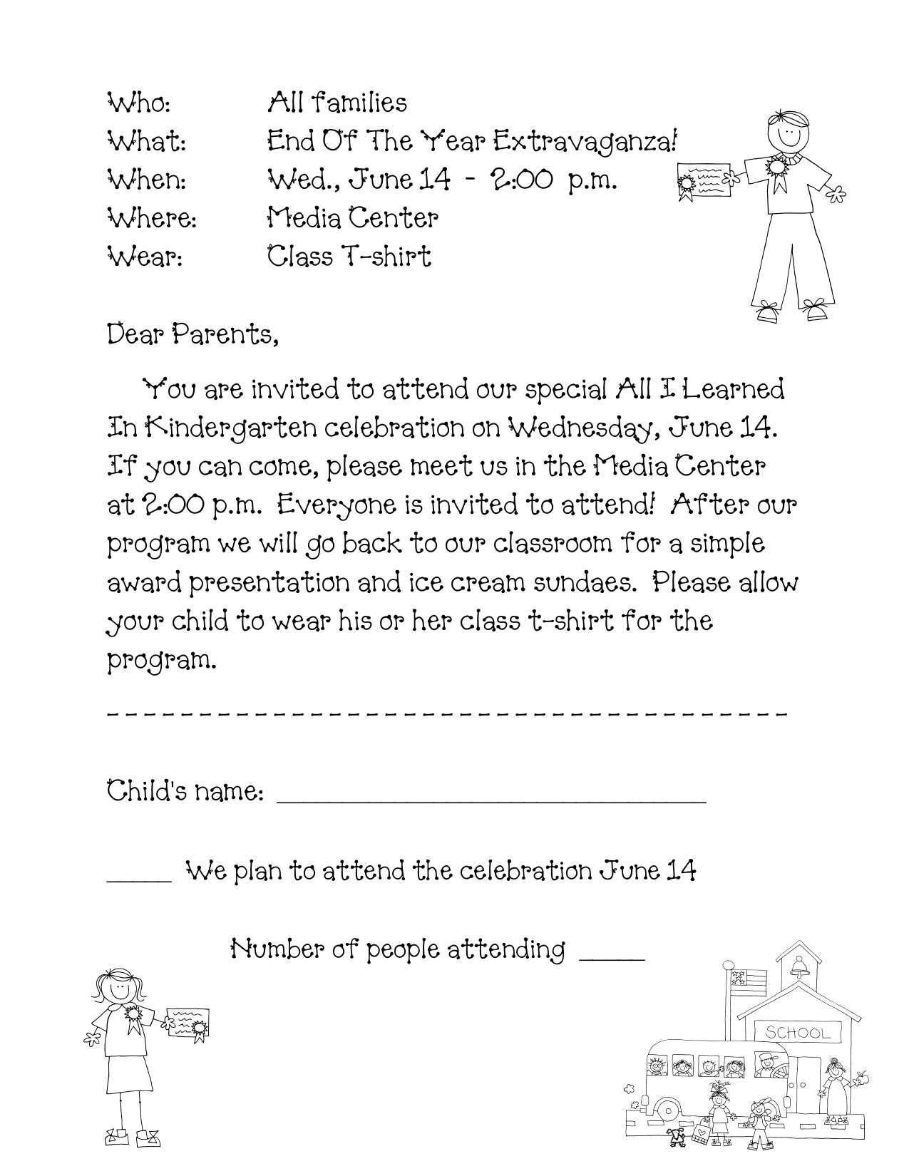 Invitation Letter To Parents To Attend Graduation Ceremony