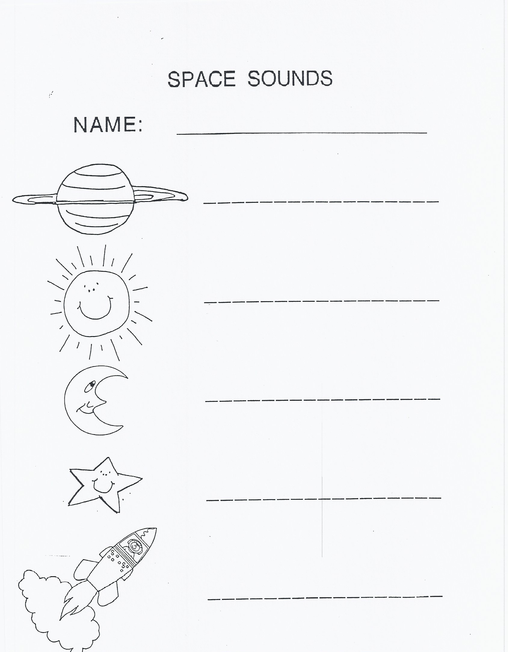 Outer Space | Kindergarten Nana