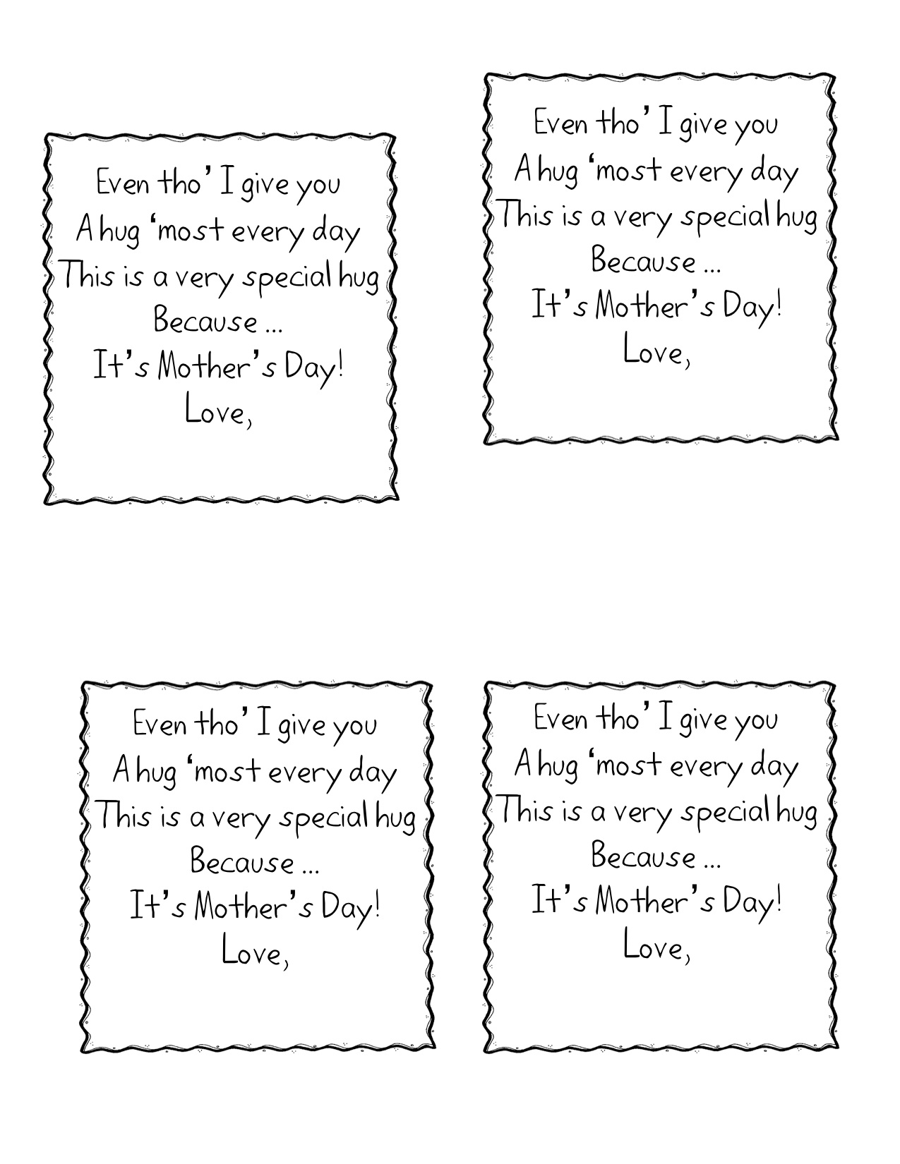 Mothers Day Verses For Cards