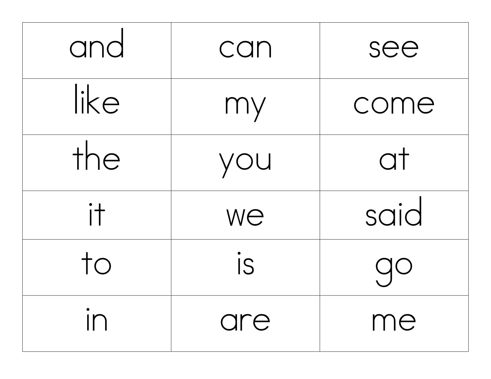 Free Printable Books For Kindergarten Sight Words