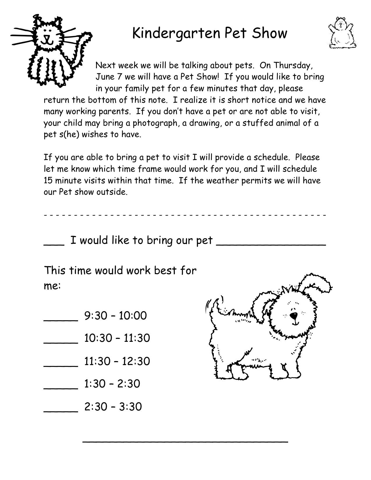 pet show kindergarten nana