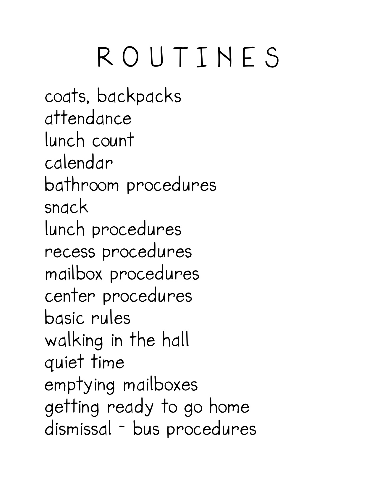 writing routine Example outcomes example outcomes the following examples are taken from real routines-based interviews, which produced the informal goals below.