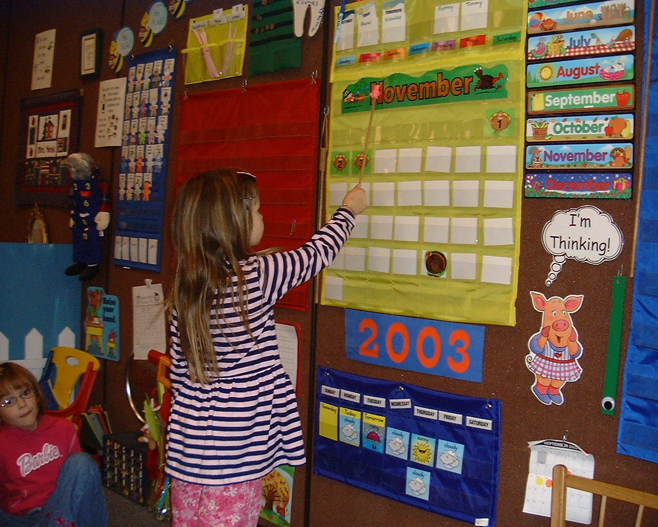 Calendar For Kids In Classroom : Routines kindergarten nana