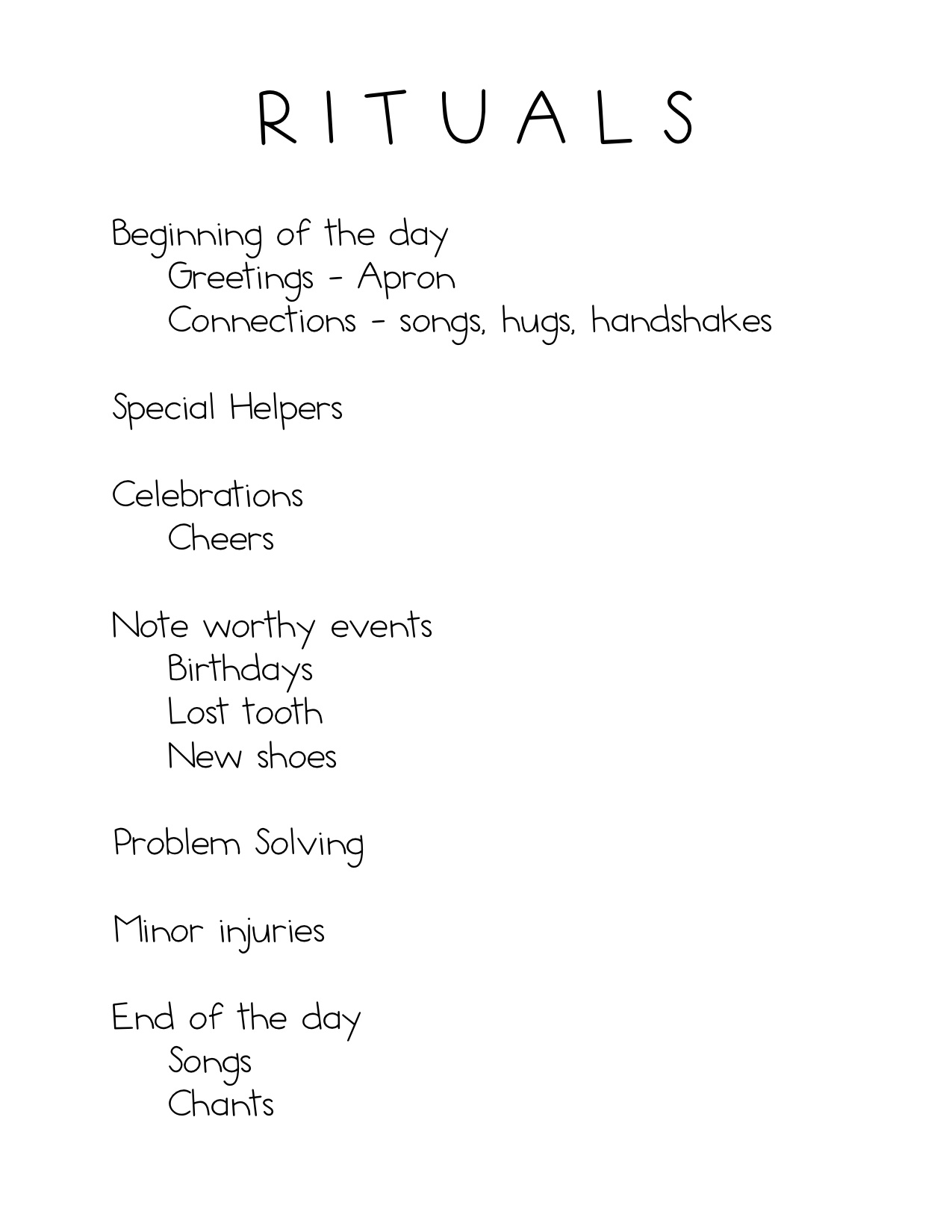 Rituals kindergarten nana ritual list m4hsunfo