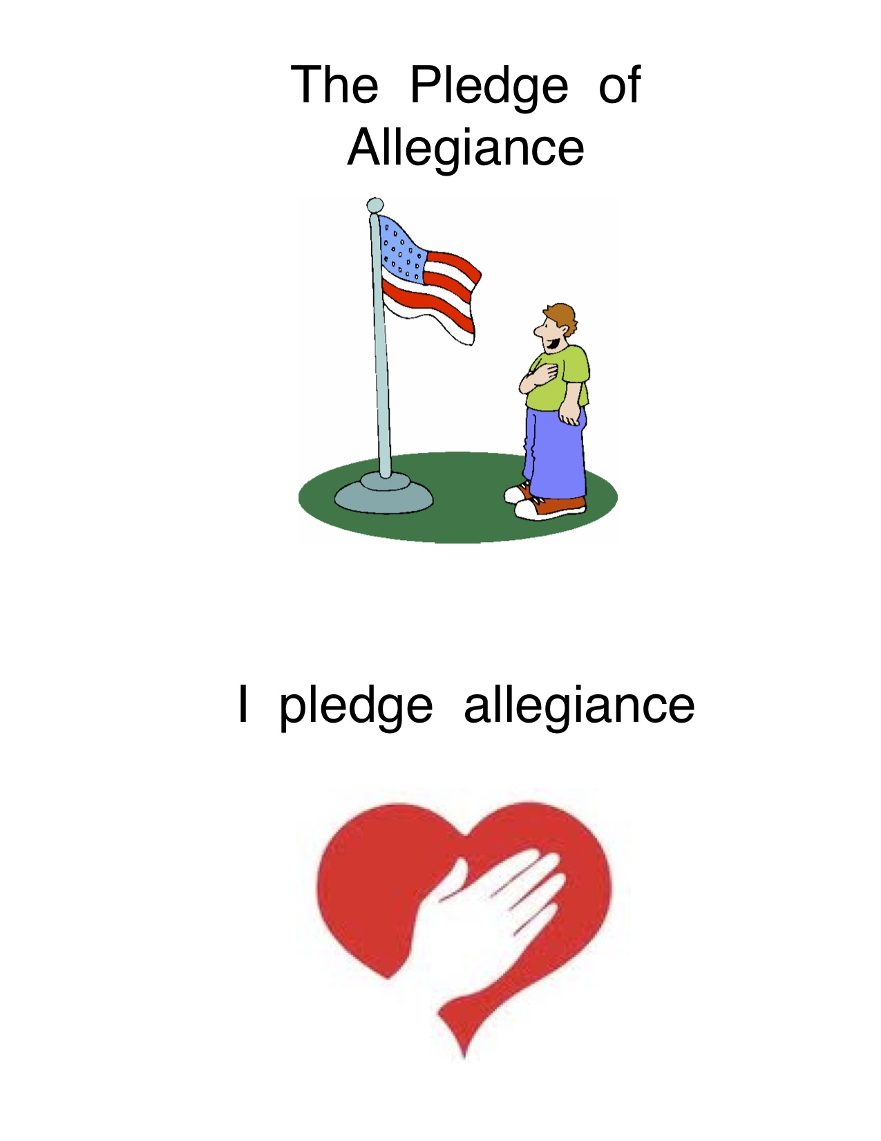 image regarding Pledge of Allegiance Words Printable referred to as The Pledge of Allegiance Kindergarten Nana