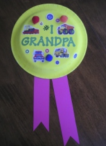 09 on Paper Plate Grandparents Day Craft