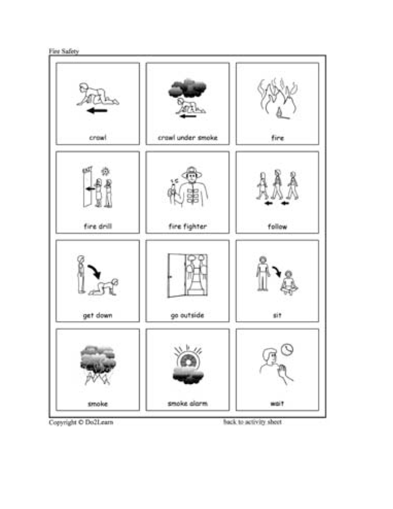 Worksheets Fire Safety Worksheets fire safety kindergarten nana picts
