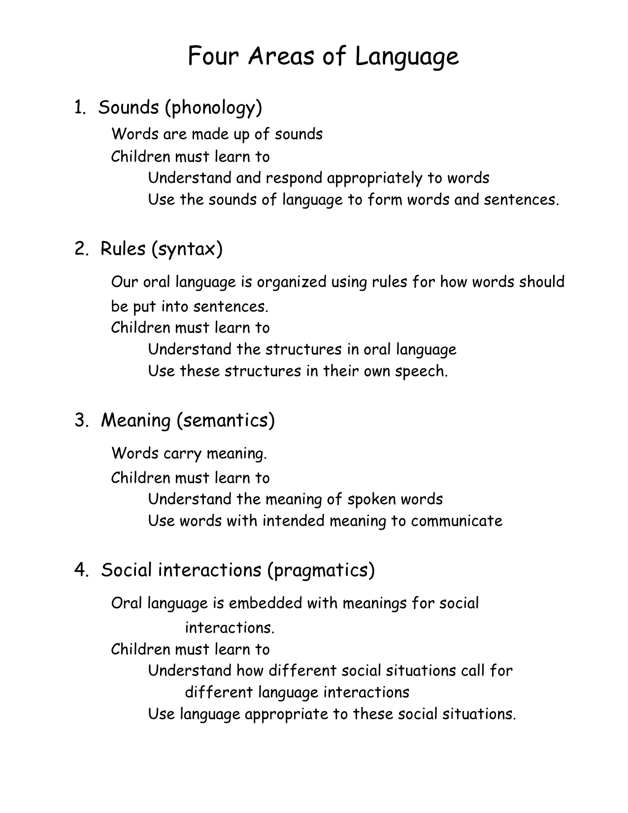 Development Of Oral Language 86