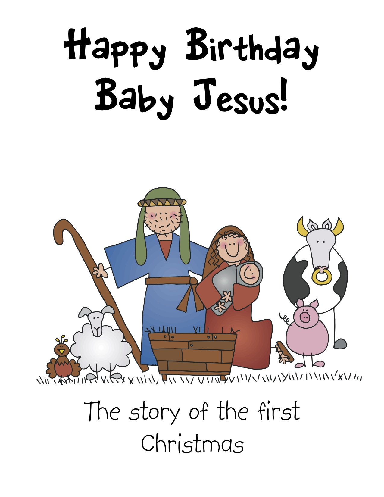 It's just a graphic of Zany Printable Nativity Story