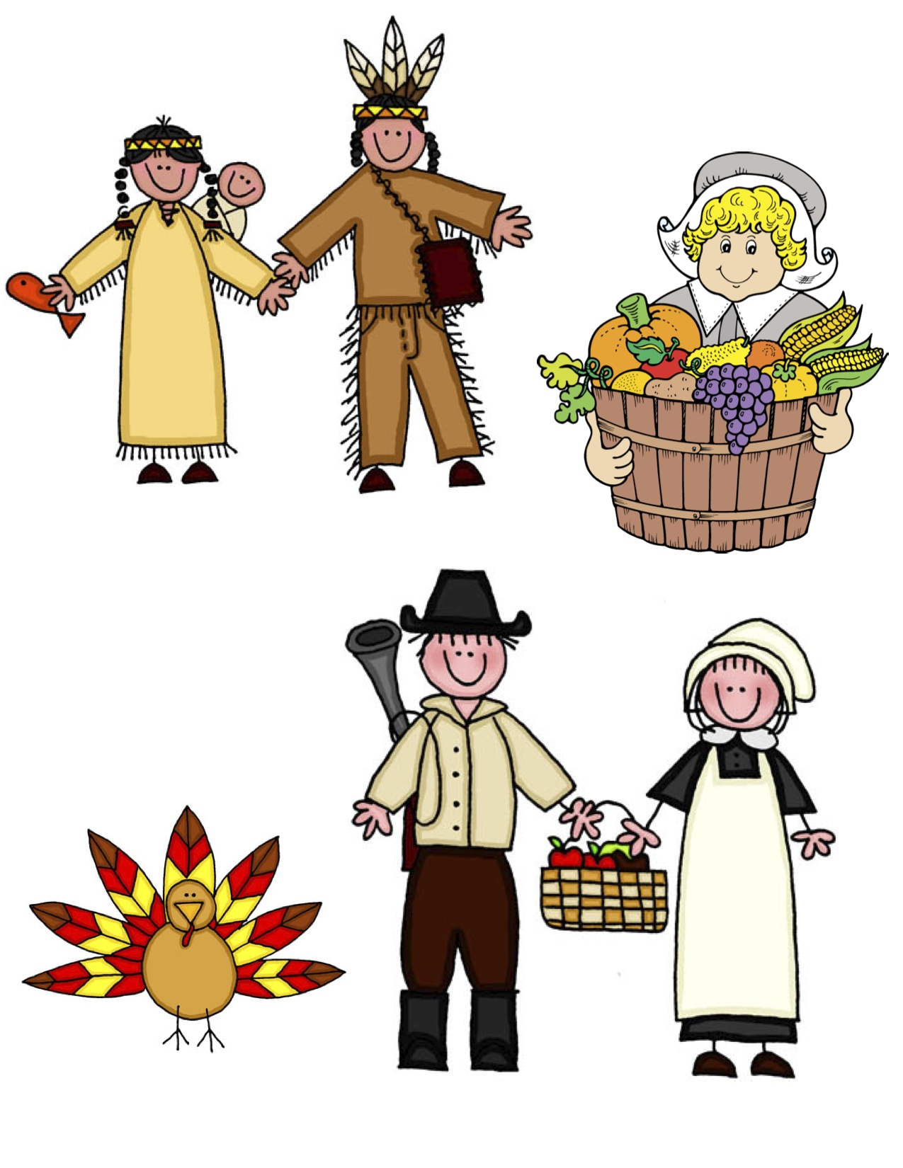 Thanksgiving Pilgrim Clip Art