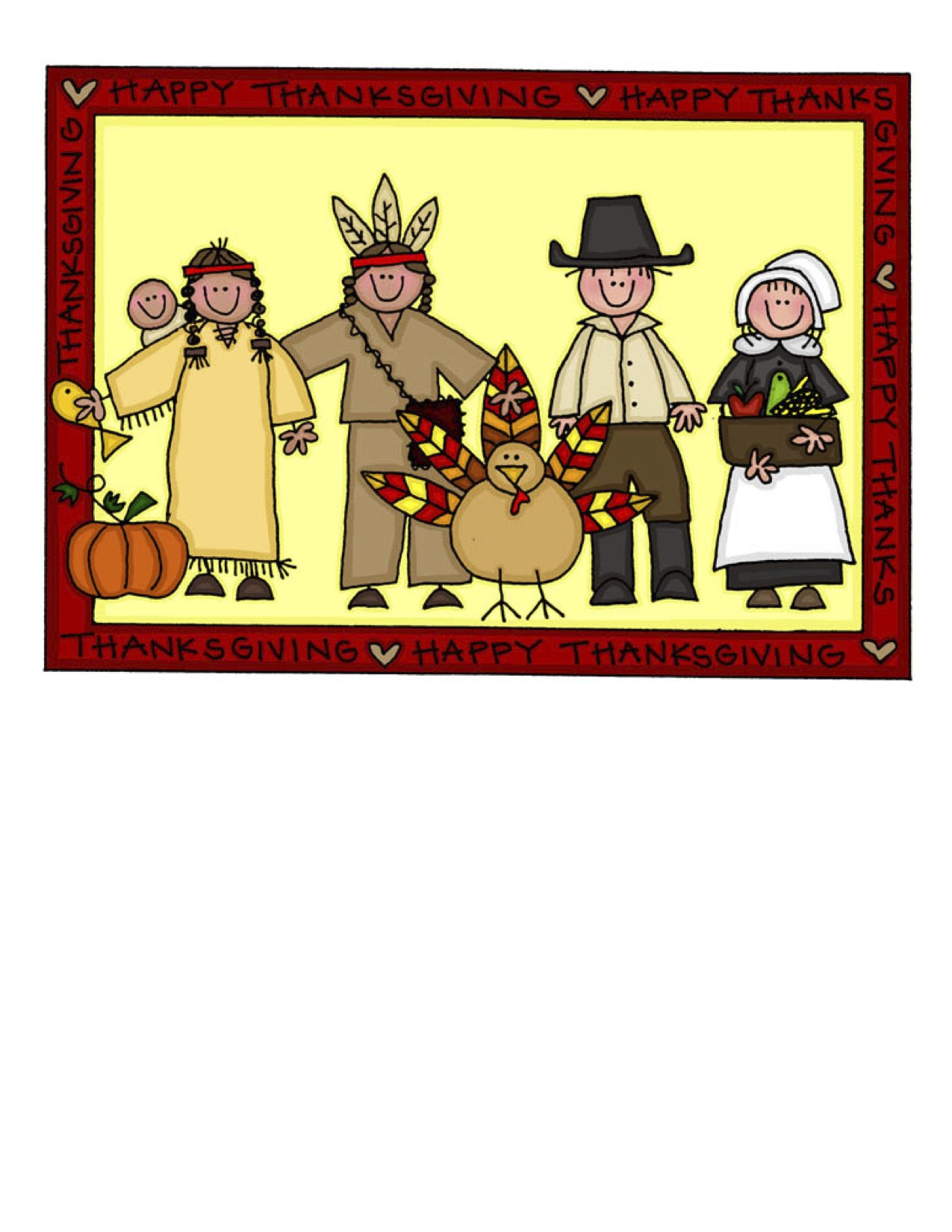 First Thanksgiving Feast Clipart Images & Pictures - Becuo