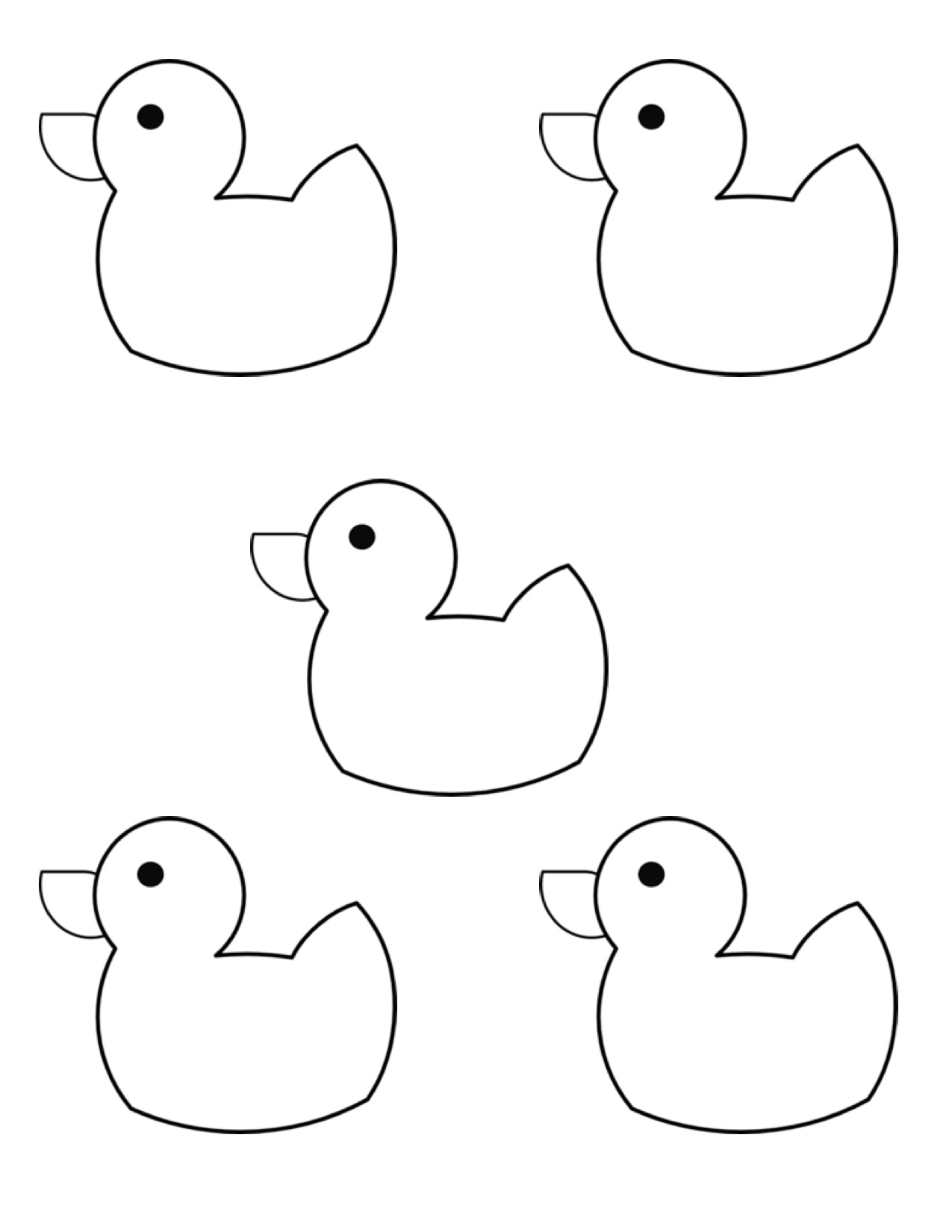 picture regarding Duck Template Printable known as 10 Small Rubber Ducks Kindergarten Nana