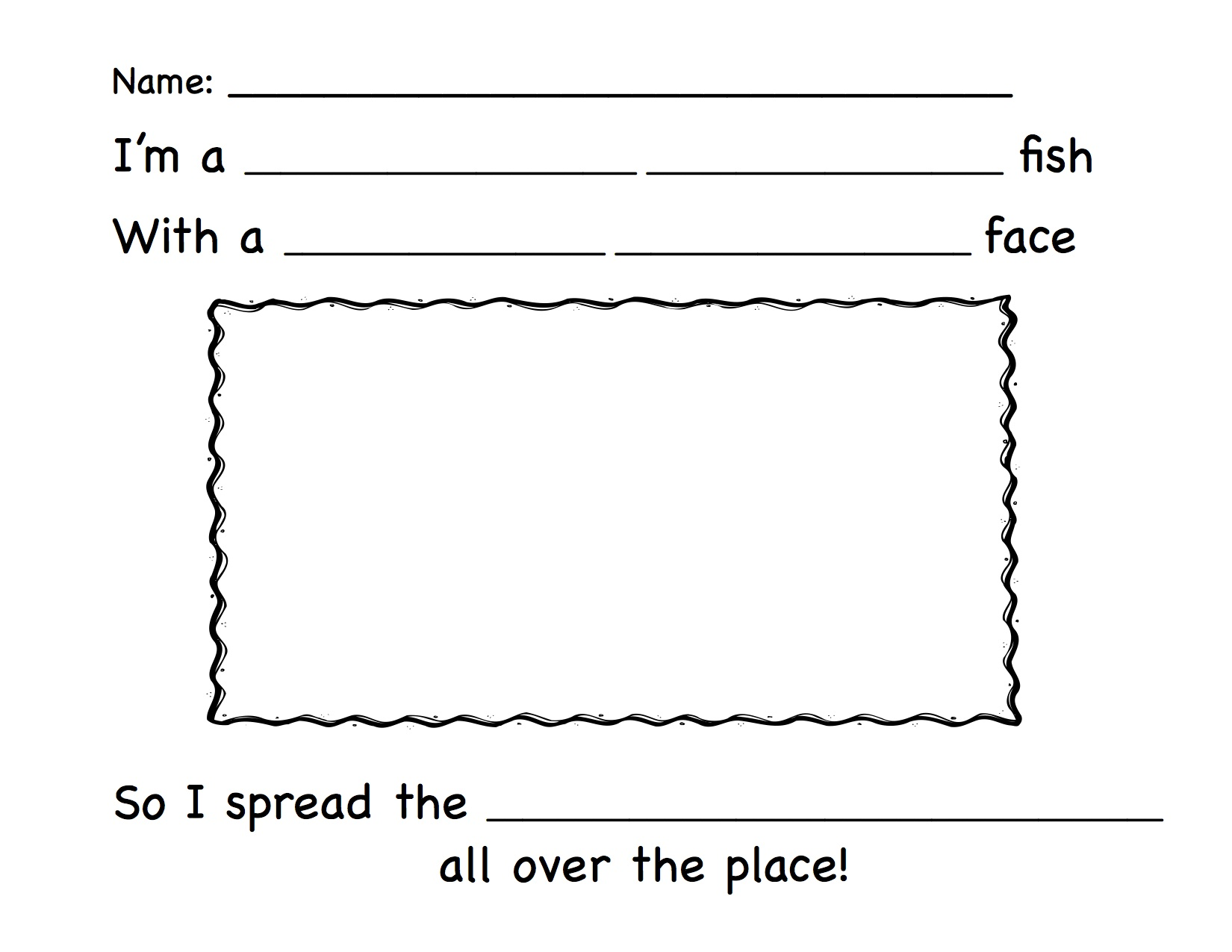 writing1 - Pout Pout Fish Coloring Page