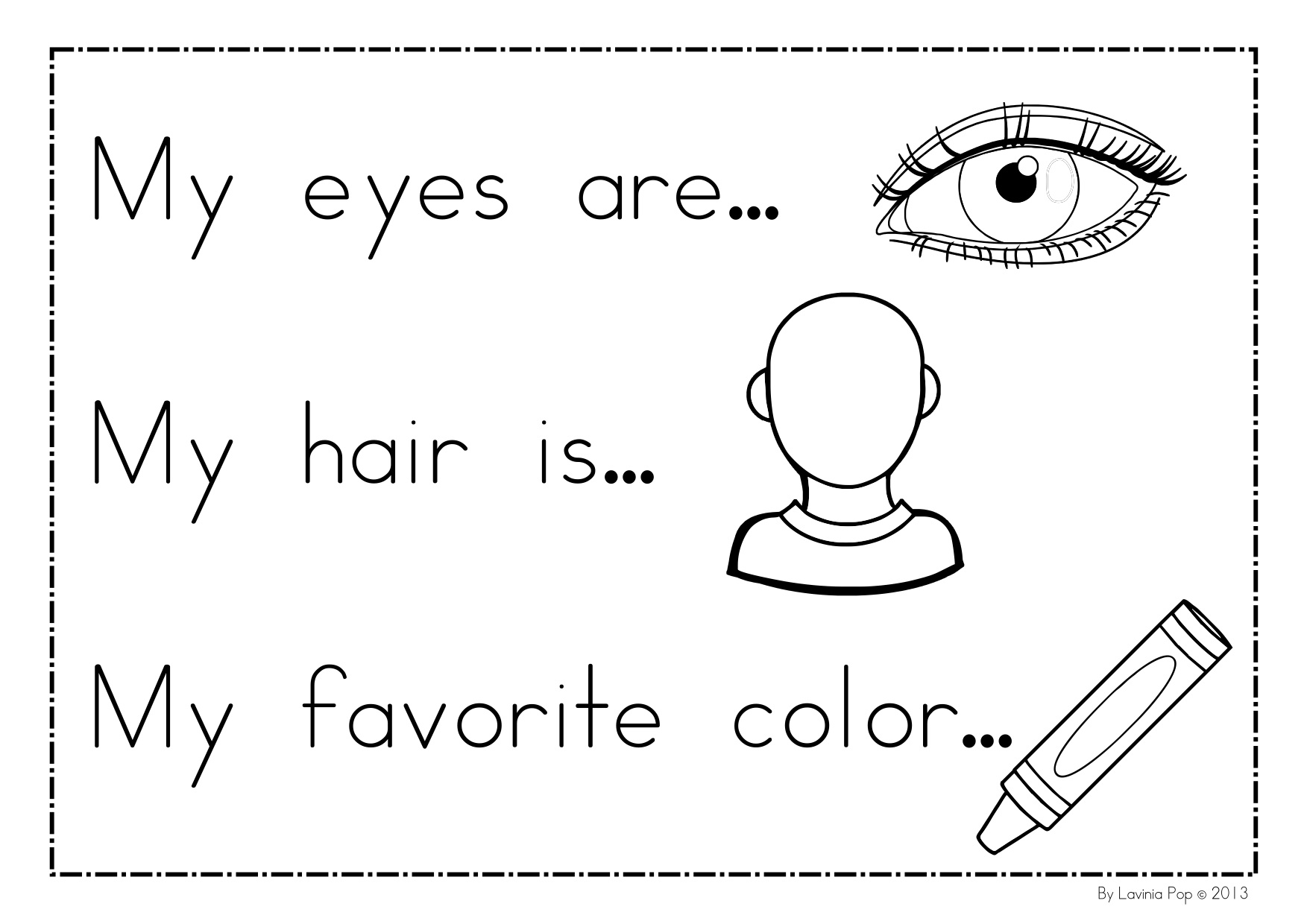 i am special coloring pages - photo #7