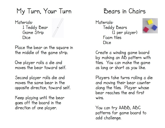 Teddy Bear Game Directions 3