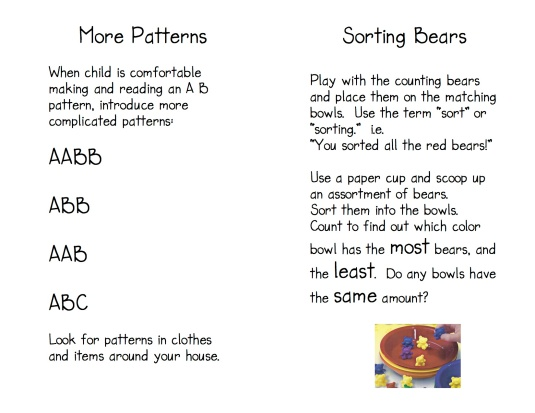 Teddy Bear Game Directions 5