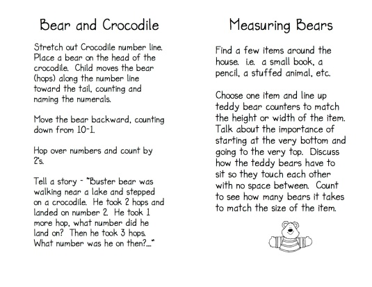 Teddy Bear Game Directions 7