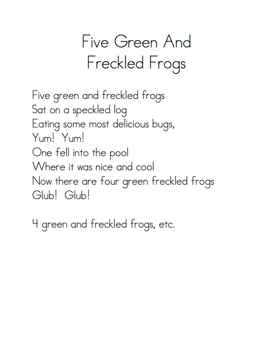 Five Green Frogs