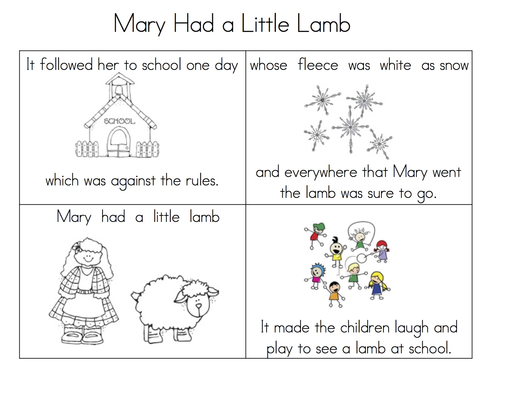 Mary Lamb Sequence Little