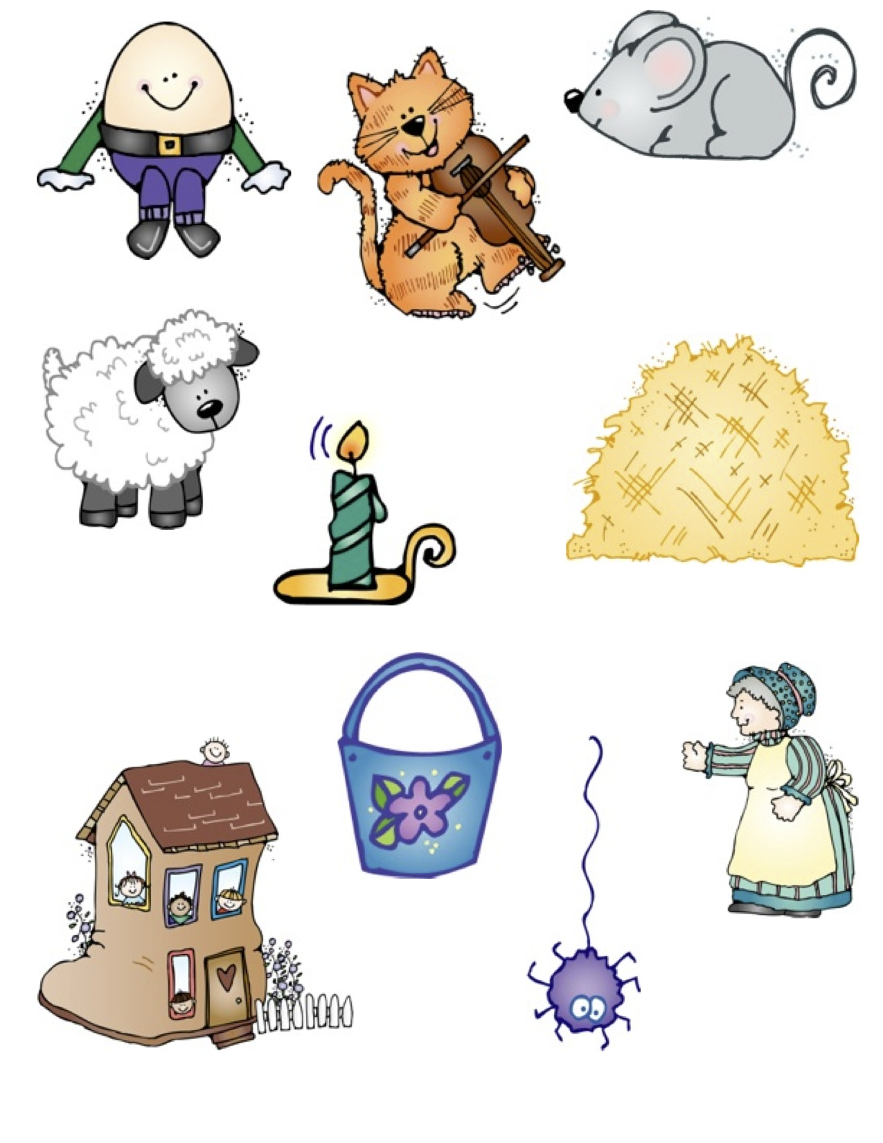 Nursery Rhymes Clip Art More fun with nursery rhymes!