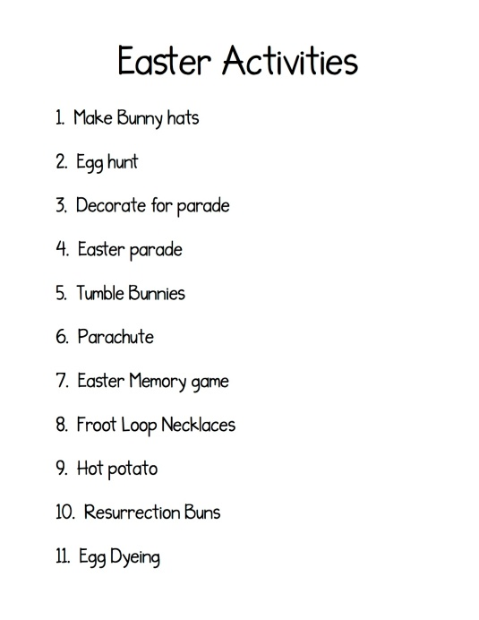 Easter activities copy