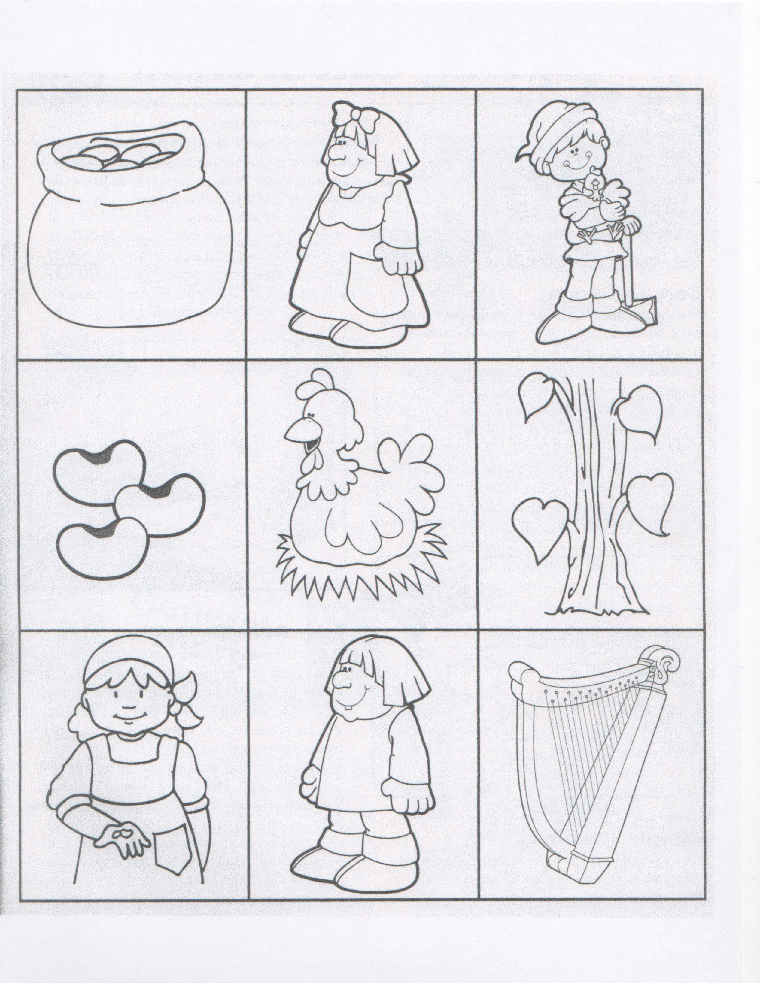 Jack and the beanstalk kindergarten nana for Cut out character template