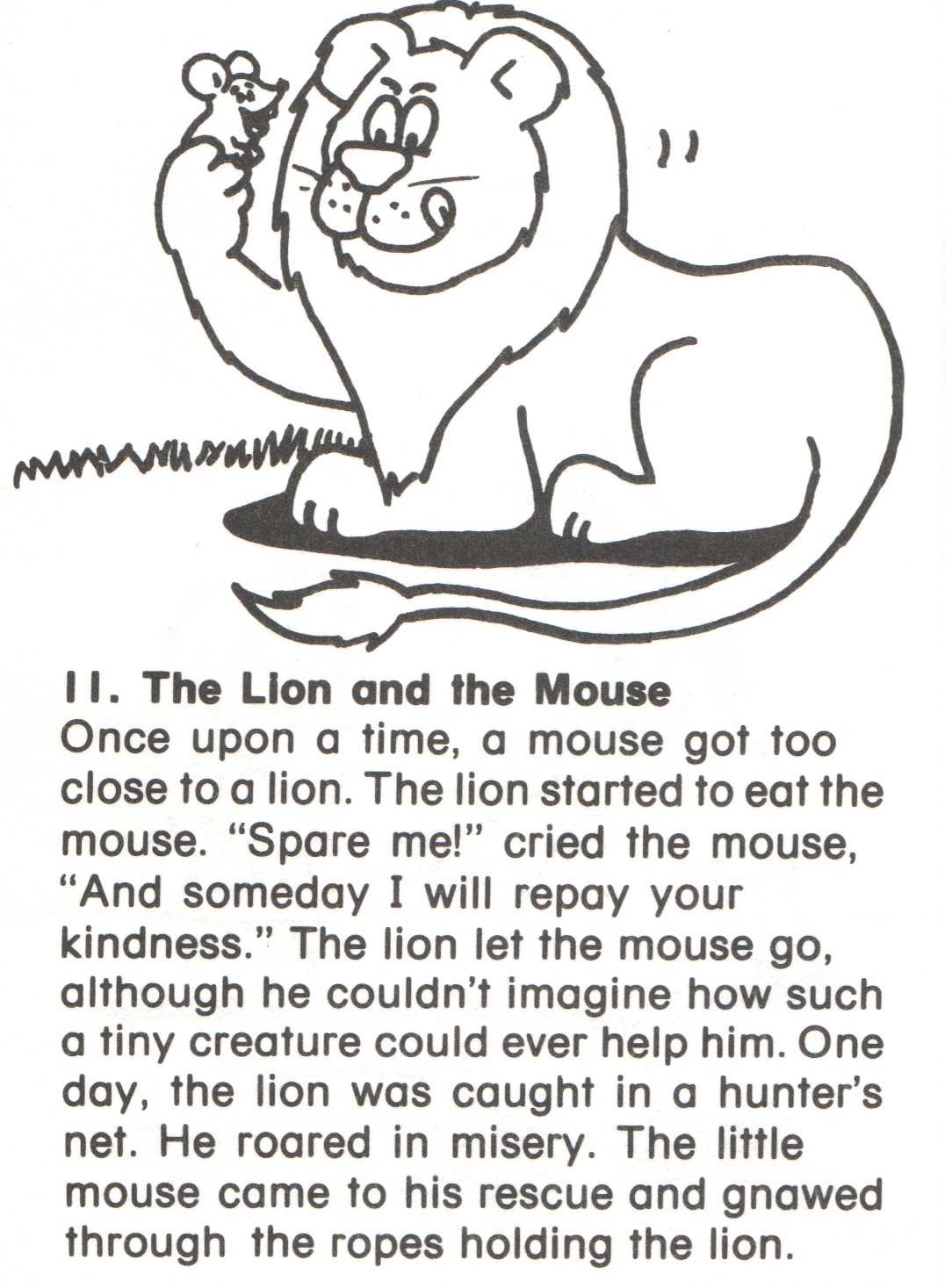 Worksheets Kindergarten Story 11 lion and mouse story kindergarten nana fairy tales story