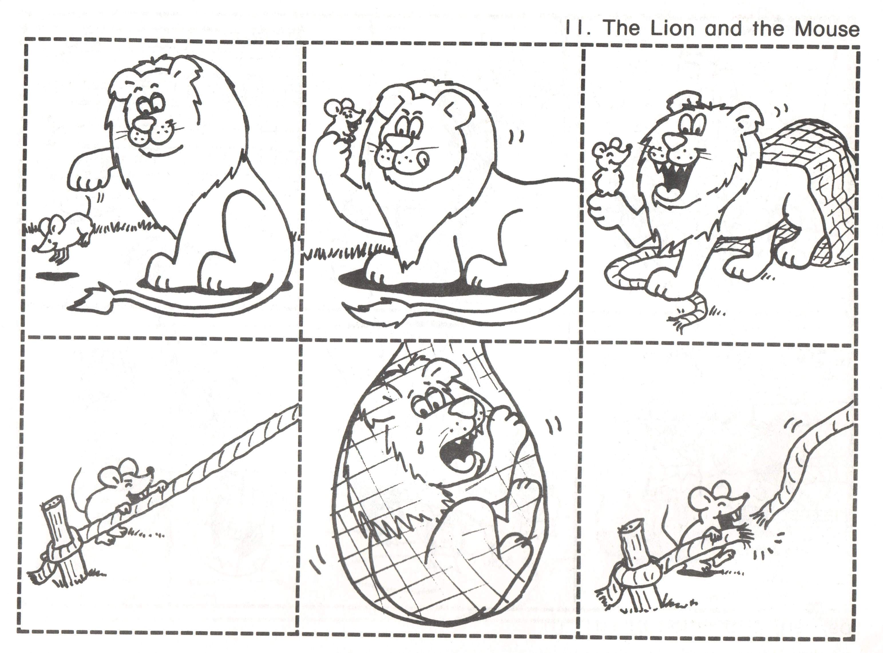 Lucrative image pertaining to the lion and the mouse story printable